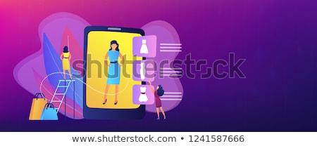 Virtual fitting room concept banner header. Stock photo © RAStudio