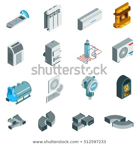 Ventilação vetor isométrica ilustração pipes Foto stock © RAStudio