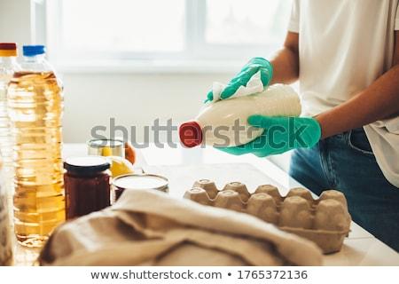 zak · producten · geïsoleerd · witte · papier · oranje - stockfoto © robuart