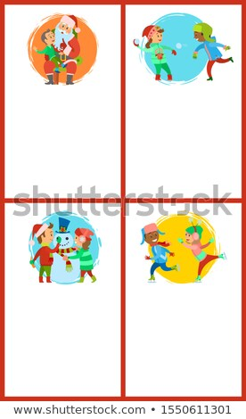 Conversa papai noel jogos crianças inverno Foto stock © robuart