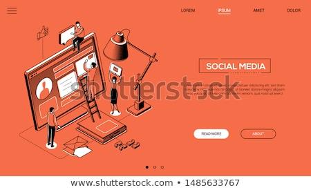 Сток-фото: цифровой · маркетинга · современных · линия · дизайна · стиль