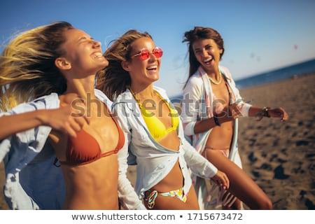 иллюстрация лет счастливые люди друзей отпуск пляж Сток-фото © antoshkaforever