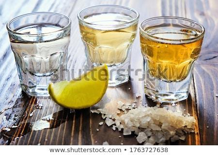 ezüst · arany · tequila · citrus · só · gyümölcs - stock fotó © furmanphoto