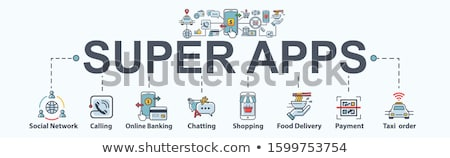Big data applications header banner. Stock photo © RAStudio