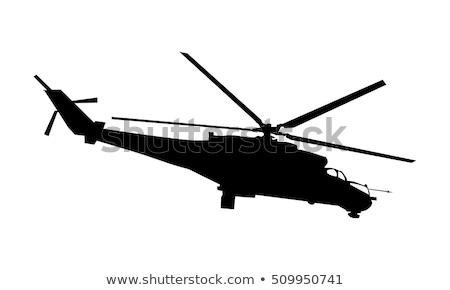 military helicopter vector illustration Stock photo © konturvid