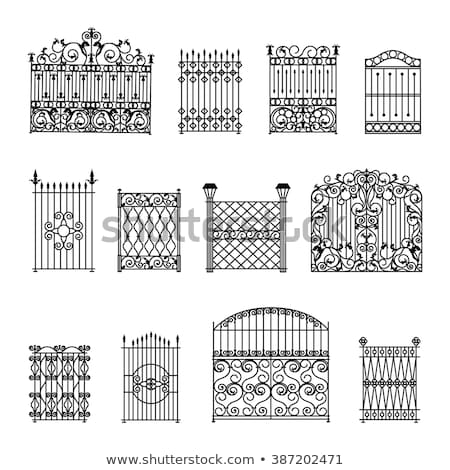 element of decorative black wrought iron  Stock photo © inxti