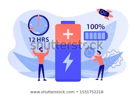 Battery runtime concept vector illustration. Stock photo © RAStudio