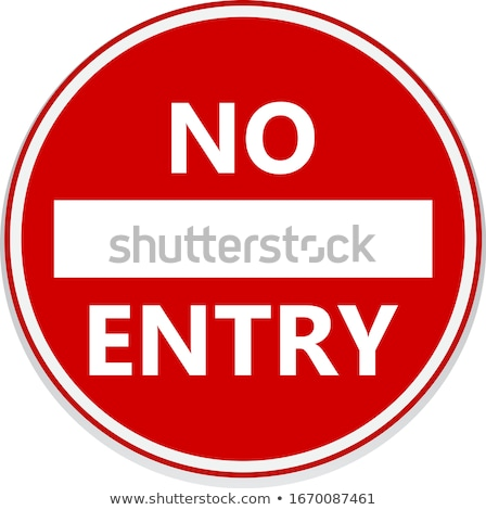 No entry road sign close up. Stock photo © latent