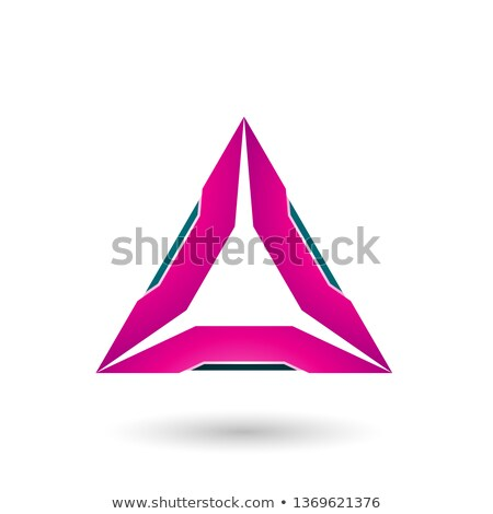 Magenta triangle vert vecteur illustration isolé Photo stock © cidepix