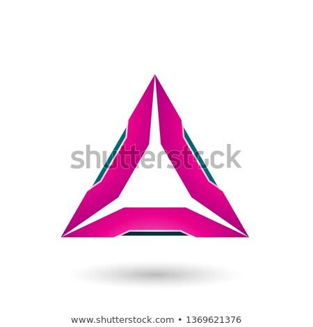 Magenta triângulo verde vetor ilustração isolado Foto stock © cidepix
