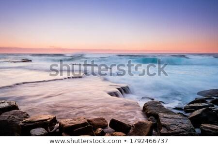 Zonsopgang kustlijn koninklijk park trillend hemel Stockfoto © lovleah