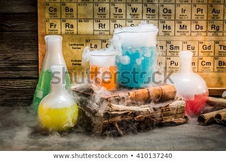 Kémia leckék csövek kutatás laboratórium vektor Stock fotó © robuart