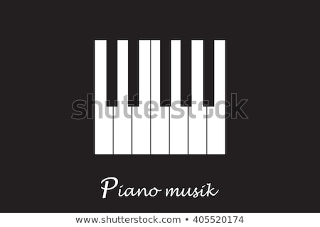 Jazz Day poster of black piano key background Stock photo © cienpies