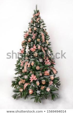 decorado · árvore · de · natal · neve · ilustração · grande · luxo - foto stock © Blue_daemon