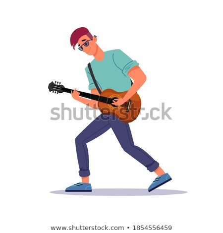 Male Singing, Musician Giving Performance Isolated Stock photo © robuart