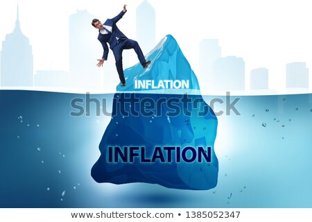 The businessman in inflation concept wih iceberg Stock photo © Elnur