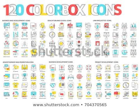 Stok fotoğraf: Renkler · hat · ikon · vektör · yalıtılmış · beyaz