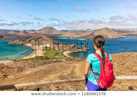 Crociera vacanze turistica donna isola Foto d'archivio © Maridav