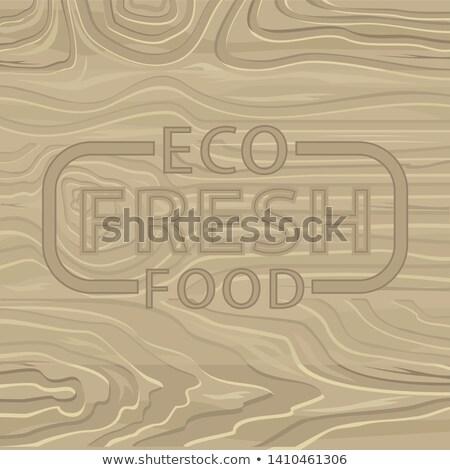 Eco alimentos frescos pinho carvalho vetor Foto stock © robuart