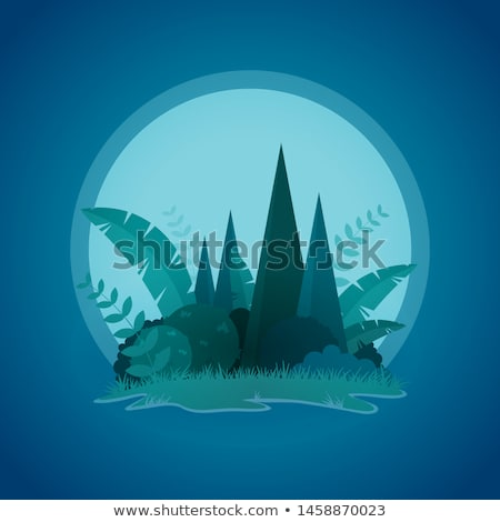 Vector design of tropical little island sunset landscape Stock photo © sgursozlu