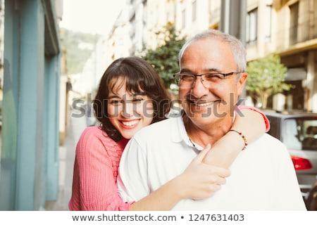 padre · pequeño · hija · naturaleza · jóvenes · ninos - foto stock © lopolo