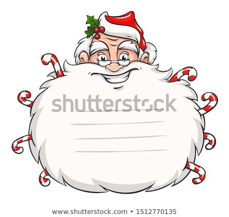 かわいい · 笑みを浮かべて · サンタクロース · 頭 · ステッカー · あごひげ - ストックフォト © loopall