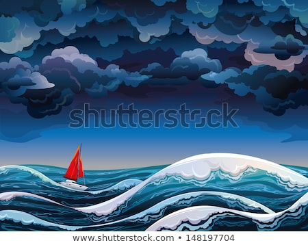 Cartoon storm cloud Stock photo © bennerdesign