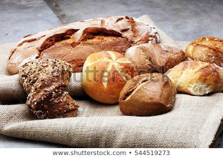 frescos · desayuno · pan · rodar · aislado - foto stock © galitskaya