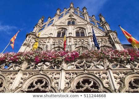 Belediye binası Belçika görmek pazar kare ev Stok fotoğraf © borisb17