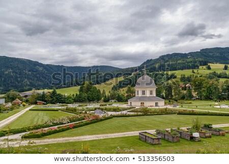 Abdij Oostenrijk klooster begraafplaats toren godsdienst Stockfoto © borisb17