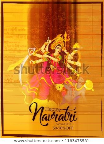 Navaratri poster design with goddess  Stock photo © bluering