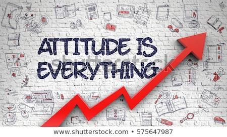 Think Positive Drawn on Brick Wall. Stock photo © tashatuvango