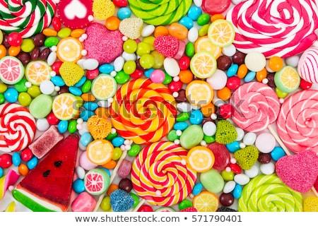 Válogatás színes cukorkák háttér tabletták fehér Stock fotó © furmanphoto