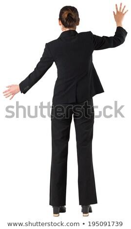 Achteraanzicht brunette halfbloed zakenvrouw hand business Stockfoto © wavebreak_media
