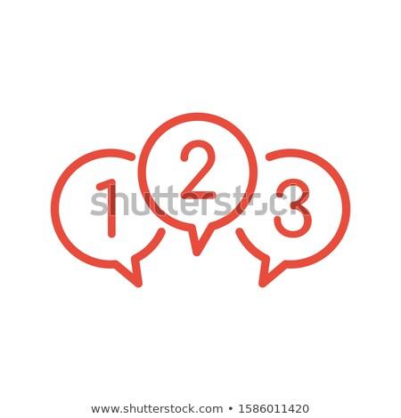 Conversar bubbles números balões texto dígitos Foto stock © kyryloff