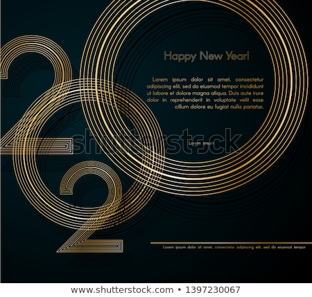Yıl happy new year tebrik kartı kartpostal şablon afiş Stok fotoğraf © kyryloff