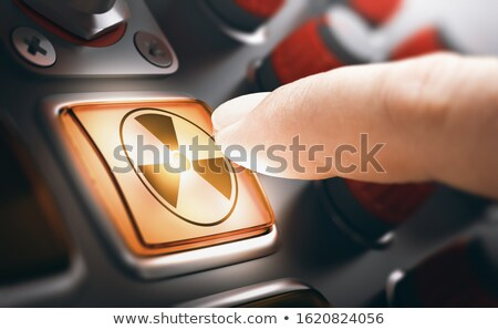 Man Finger Pressing Nuclear Button Stock photo © olivier_le_moal
