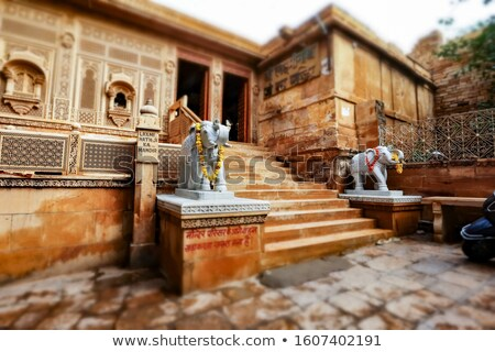 Tilt shift lens - Laxminath temple of Jaisalmer, dedicated to th Stock photo © cookelma