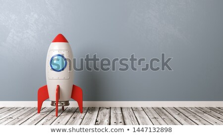 Cartoon Spaceship on Wooden Floor in the Room Stock photo © make