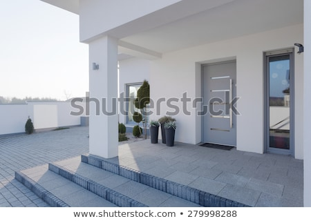 現代 白 住宅 フロント ベルリン ドイツ ストックフォト © elxeneize