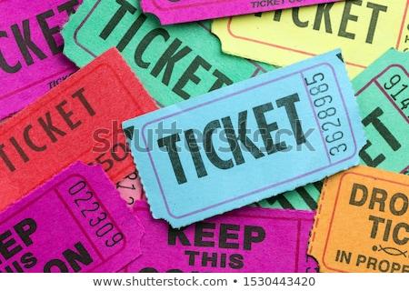 множественный белый цвета билеты бумаги шоу Сток-фото © kenishirotie