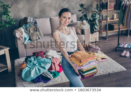 女性 画像 ゴージャス 黒い髪 触れる ストックフォト © pressmaster