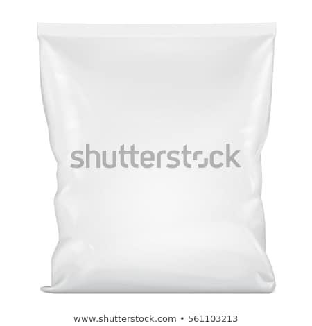 Blank white plastic sachet for your design Stock photo © netkov1