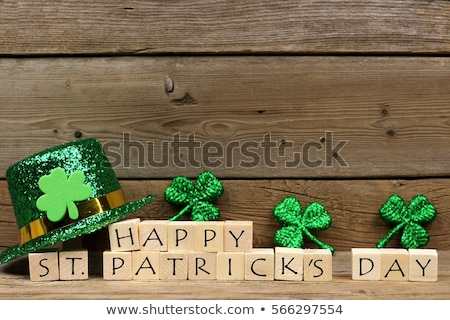 happy saint patricks day green clover leaves background Stock photo © SArts