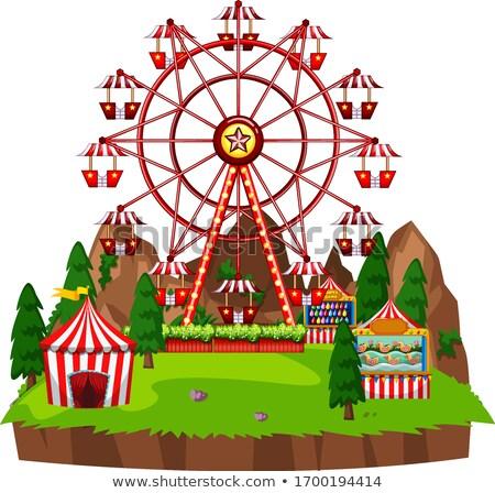 Scène circus games park illustratie Stockfoto © bluering