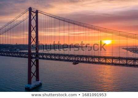 Lisboa dorado silueta simple turismo Foto stock © ShustrikS