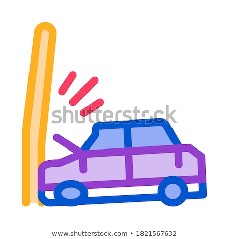 Auto paal icon vector schets illustratie Stockfoto © pikepicture