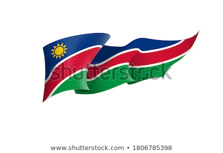 Namibya bayrak beyaz dizayn arka plan imzalamak Stok fotoğraf © butenkow