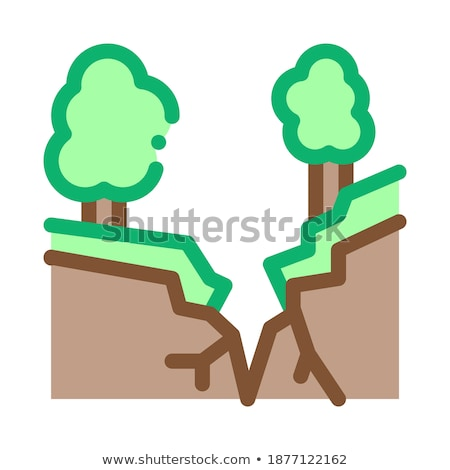 Terremoto floresta ícone vetor ilustração Foto stock © pikepicture