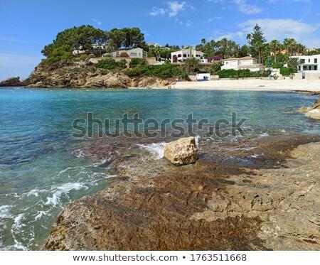 Festői kilátás idilli díszlet tengerpart tengerpart Stock fotó © amok